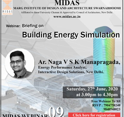 Webinar:  Briefing on Building Energy Simulation, on 27 Jun 2020 / 03:00 PM - 04:30 PM