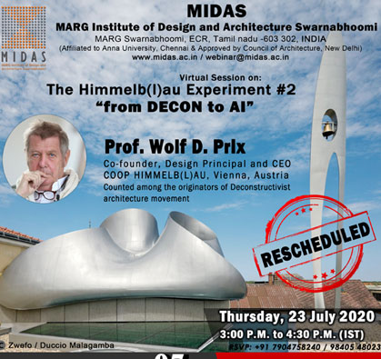 Webinar: The Himmelb(l)au Experiment #2 'from DECON to AI', on 23 Jul 2020 / 03:00 PM - 04:30 PM