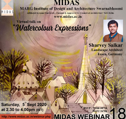 Webinar: Virtual Talk on 'Watercolour Expressions', on 05 Sep 2020 / 02:30 PM - 04:00 PM