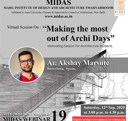 Webinar: Making the most out of Archi Days, on 12 Sep 2020 / 03:00 PM