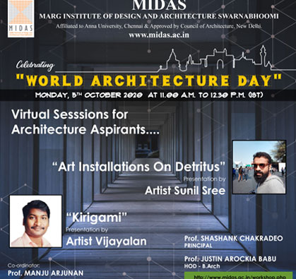 Virtual Session for Architecture Aspirants, on 05 Oct 2020