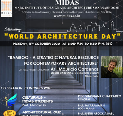 Webinar: World Architecture Day, on 05 Oct 2020