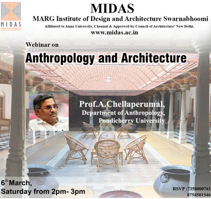 Webinar on 'Anthropology and Architecture', on 06 Mar 2021