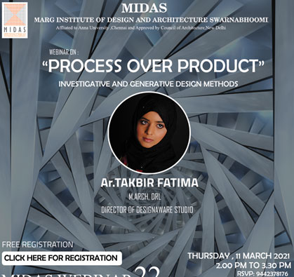 Webinar on 'Process over Product', on 11 Mar 2021