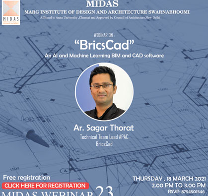 Webinar on BricsCad - An AI and Machine Learning  BIM and CAD Software, on 18 Mar 2021